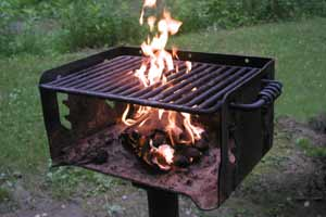 Cooking grill at Hinckley Reservation, Ohio.