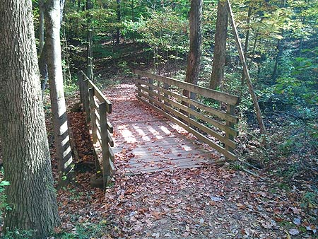 Footbridge on the Oak Hill Trail, Cuyahoga Valley National Park, Ohio